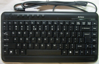 A4tech Mini X-Slim Keyboard KL-5, USB, Black