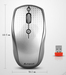 A4tech G9-530HX Holeless HD Wireless Mouse w/Nano Receiver