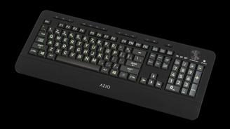 Azio KB506 Vision Backlit Large Print 5 Backlight Colors USB Keyboard