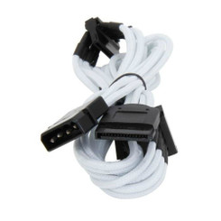 Bitfenix BFA-MSC-M4SA20WK-RP (White) Alchemy Multisleeved 20cm 4Pin Molex to 4xSATA Power Adapter Cable