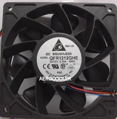 Delta QFR1212GHE-F00 120x38mm Extreme Hi Fan, 4+3Pin