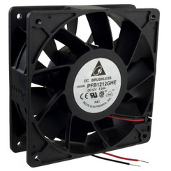 Delta PFB1212GHE-F00 120x38mm Exterme-Hi Fan, 3 Bare Wires