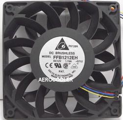 Delta FFB1212EH-PWM 120x25mm Extreme Hi PWM Fan, PWM 4pin
