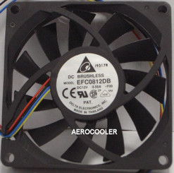 Delta EFC0812DB-PWM 80x15mm PWM Fan, PWM 4Pin