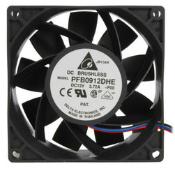 Delta PFB0912DHE-F00 92x38mm Extreme Hi Fan,3 Bare Wires