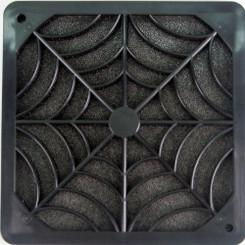 EverCool FGP-120 120mm Plastic Fan Filter, Black