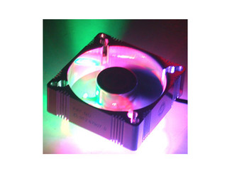 EverCool 60x60x25mm 4 LED Fan Aluminum RED BLUE GREEN ORANGE