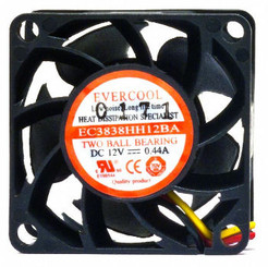 EverCool EC3838HH12BA 38x38x38mm Ball Bearing Fan, 3Pin