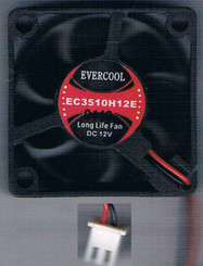 EverCool EC3510H12E 35mm x 35mm x 10mm EL Bearing 12V Fan, 2Pin