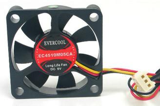 EverCool EC4510M05CA 45x45x10mm 5V Ball Bearing Fan, 3Pin
