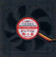 Evercool 50x10mm EC5010M12CA 12V Ball Bearing Fan,3Pin