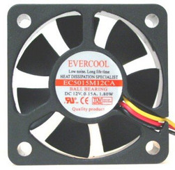 EverCool EC5015M12CA 50x15mm Ball Bearing Fan, 3Pin