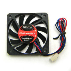 EverCool EC6010M05CA 60x10mm Ball Bearing 5V Fan, 3pin