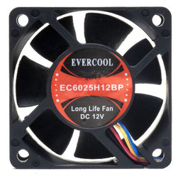 EverCool EC6025H12BP 60x25mm Ball Bearing PWM Fan, PWM 4Pin