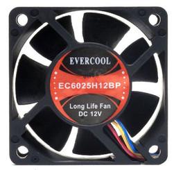 EverCool EC6025H12BP 60x25mm Ball Bearing PWM Fan, PWM 4Pin