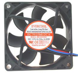 EVERCOOL EC7025M12CA 70x70x25mm 3pin Ballbearing case fan