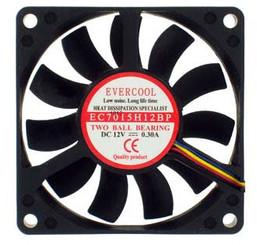 EverCool EC7015H12BP 70x70x15mm 12v Dual Ball 4Pin PWM Fan
