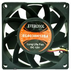 EverCool EC8038H12BA 80mm x 38mm 12V 3Pin Ball Bearing Fan