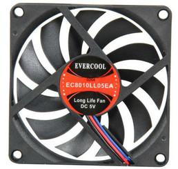 EverCool EC8010LL05E 80x10mm 5V Ball Bearing Fan, 3Pin