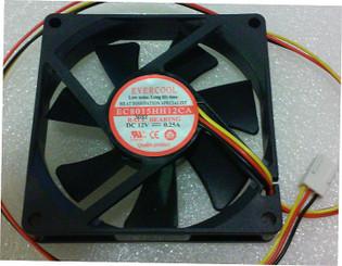 Evercool EC8015HH12CA 80x80x15mm 12V DC Ball Bearing Fan, 3Pin