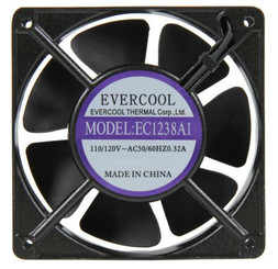 Evercool AC 110V  120x38mm Aluminum Fan EC1238A1HBT