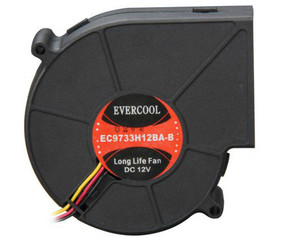 EVERCOOL EC9733H12BA-B 92x33mm Dual Ball Bearing Blower Fan