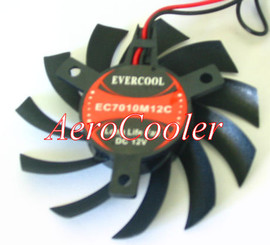 EverCool EC7010M12C 70x70x10mm Video Card Fan, 2pin