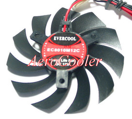 EverCool EC8010M12C 80x80x10mm Video Card Fan, 2pin