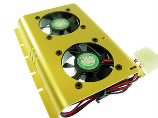 Dual 50mm ball bearing hard-drive cooler HDC-SHDC-B