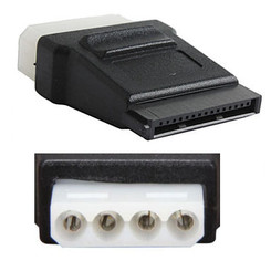 CB-ADP-SAMO-FF SATA 15Pin Power (Female) to Molex 4Pin (Female) Adapter