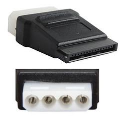 CB-ADP-SAMO-FF SATA 15Pin Power (Female) to Molex 4Pin (Female) Adapter