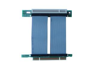 RC1-152CX 1-slot PCI-32bit/5V/3.3V 33MHz riser card w/custom lengths flexible cable