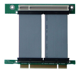 RC1-152RCX 1-slot PCI-32bit/5V/3.3V reversed 33MHz riser card w/custom lengths flexible cable