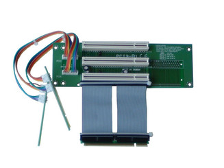 RC2011E 2U 3-slots PCI-32bit/5V/33MHz riser card w/ 7cm ribbon cable