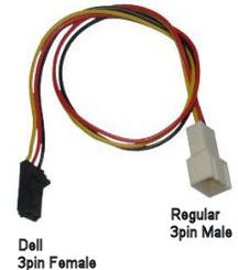 3Pin Fan Adaptor Cable (Dell Compatible)