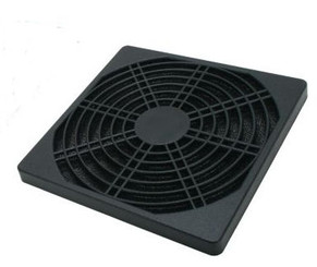 92mm black plastic fan filter