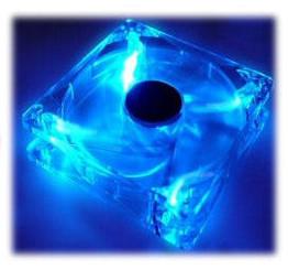 120mm Crystal Clear Fan w/ 4 Blue LED