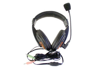 HP259 Headset Microphone (Black) w/ Volume Control