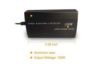 100 watts Aluminum Home & Car 2-in-1 Universal Adjustable Power Adaptor