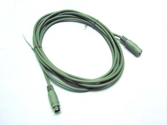 PS/2 Mouse/Keyboard Extension cable, Mini Din6 Male to Mini Din6 Female, 6FT