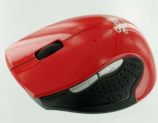 Skyline 1600dpi Optcal 2.4GHz Wireless USB Mouse (Red)