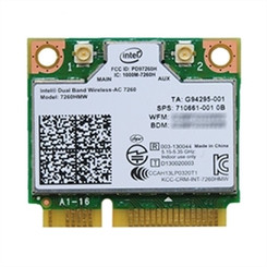 Intel 7260.HMWG WiFi Wireless-AC 7260 H/T Dual Band 2x2 AC+Bluetooth HMC