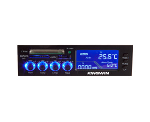 Kingwin FPX-003 5.25inch Bay 4Ch Fan Controller ,eSATA Port,Card Reader