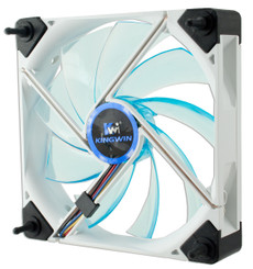 Kingwin DB-123 Duro Bearing Silent  Screw-Less 120x120x45mm Blue LED Fan