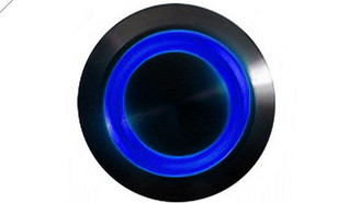 LAMPTRON 19mm Vandal Resistant Illuminated (Blue) Momentary Switch