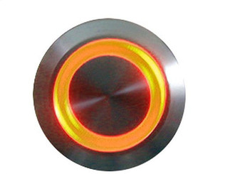 LAMPTRON 19mm Vandal Resistant Illuminated (Orange) Momentary Switch