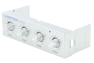 Lamptron FC4 4ch (20W/ch) fan controller, Silver