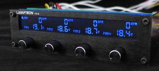 Lamptron Black FC6 4ch (20W) Fan Controller w/ Multi Color LCD Display