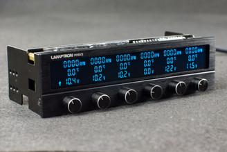 Lamptron FC5V3  6Channel (30W/Ch) Wide LCD 16 Color 5.25 Bay Fan Controller