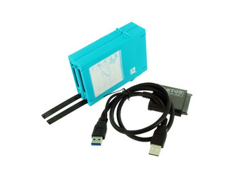 Mukii ZIO-P215U2S-BL 2.5in SATA HDD to USB2.0 Adapter/Protection Case